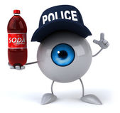 Eye  in police hat — 图库照片