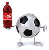 Ball with soda — Stock Photo