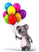 Koala with balloons — Stock Photo