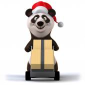 Panda with boxes — Stock Photo