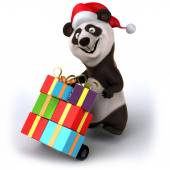Panda with christmas gifts — Stock Photo