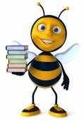 Bee with books — Stock Photo