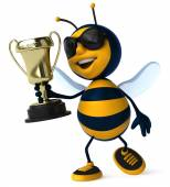 Bee with cup — Stock Photo