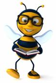 Bee with book — Stock Photo