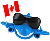 Plane with canada flag — Stock Photo