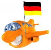 ドイツ国旗の付いた平面 — ストック写真