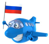 Plane with russia flag — Foto de Stock