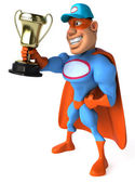 Super mechanic with Cup — Stock Photo