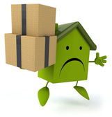 House with boxes — Stock Photo