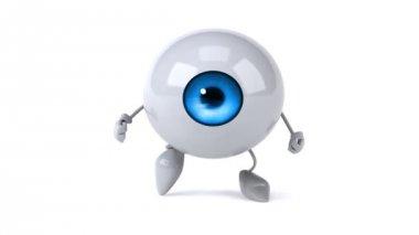 Eyeball running — Stock Video