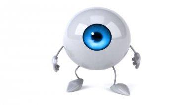 Eyeball walking — Stock Video