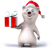 Bear with gift — Stock Photo