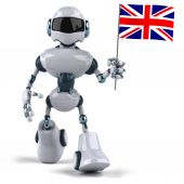 Robot with Union Jack — Foto Stock