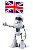 Robot avec union jack — Photo