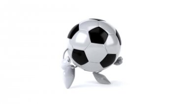 Soccer ball  running — Stock Video