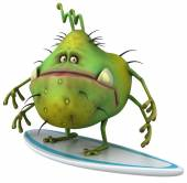 Germ with surf — Stock Photo