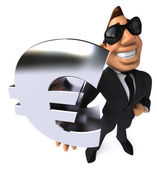 Business man with euro — Stock Photo