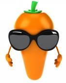 Carrot with sunglasses — Stockfoto