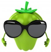 Pepper with sunglasses — Stock Photo
