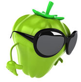 Pepper with sunglasses — Stok fotoğraf