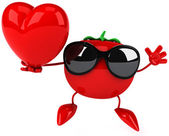Tomato with heart — Foto Stock