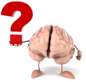 Brain with  question sign — Stock Photo