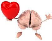 Brain with heart — Foto de Stock