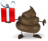 Poop with gift — Stock Photo