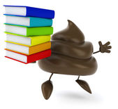 Poop with books — Stock Photo