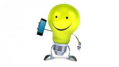 лампа с телефона — Стоковое видео