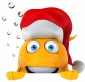 Fish with christmas hat — Foto Stock