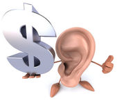 Ear with dollar sign — Foto de Stock
