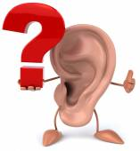 Ear with question sign — Zdjęcie stockowe