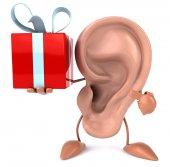 Ucho s dárkem — Stock fotografie