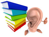 Ear with books — Foto de Stock