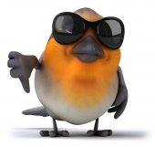 Red robin bird — Stock Photo