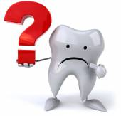 Tooth with question sign — Stock Photo