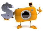 Camera with dollar sign — Foto de Stock
