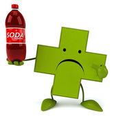 Pharmacy cross with soda — Foto Stock