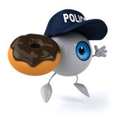 Eye with donut — Stock Photo
