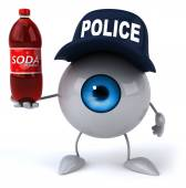 Eye with soda — Stock Photo