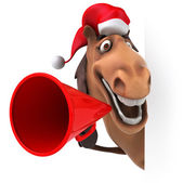 Horse with megaphone — Foto Stock