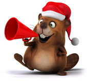 Beaver with megaphone — Stock Photo