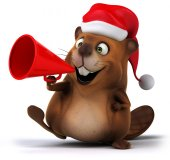 Beaver with megaphone — Foto Stock