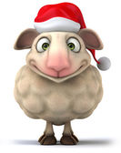 Sheep with christmas hat — Foto Stock
