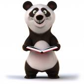 Panda with book — Stock Photo