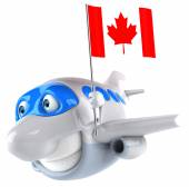Plane with flag of Canada — Stock Photo