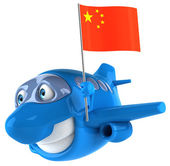 Plane with flag of China — Foto de Stock