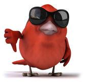 Red bird illustration — Stock Photo