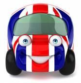 Car with england flag — Stok fotoğraf